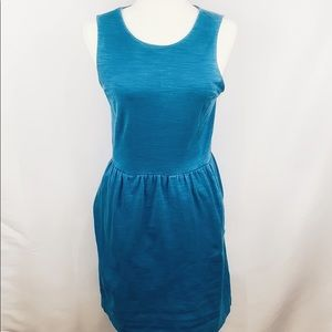Madewell Blue Sleeveless Afternoon Dress Small